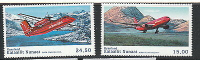 Groenland Année 2016  2 timbres aviation