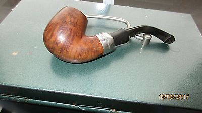 Vintage Peterson pipe wide silver collar Made in Republic Ireland
