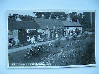 Winkle Street, Calbourne. I.W. - REAL PHOTO CARD by NIGH of VENTNOR - unposted