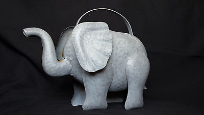 RARE Elephant Dumbo Metal Watering Can Bucket Containner Flower Plant Garden F74