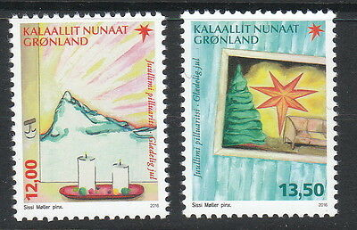 Groenland Année 2016  2 timbres Noel