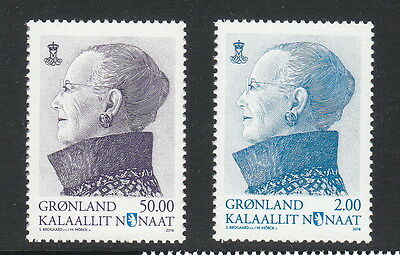 Groenland Année 2016  2 timbres serie courante