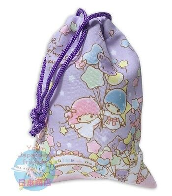 SANRIO Little Twin Stars KAWAII Japanese Drawstring Bag Pouch Accessory Case