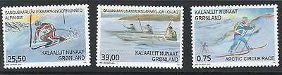 Groenland Année 2016  3 timbres sports