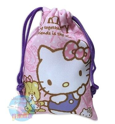 SANRIO Hello Kitty KAWAII Japanese style Drawstring Bag Pouch Accessory Case