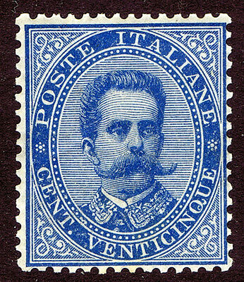 Italy 1879 25c Blue SG34 unmounted mint example of a scarce stamp- pristine