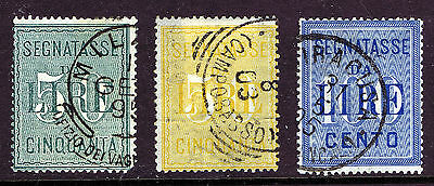 Italy 1884 & 1903 Postage Due 3 fine used copies SGD40 & SGD73/4