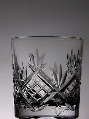 Cut Glass Crystal Whisky Tumblers Set Of 2 Whiskey Flat Tumblers