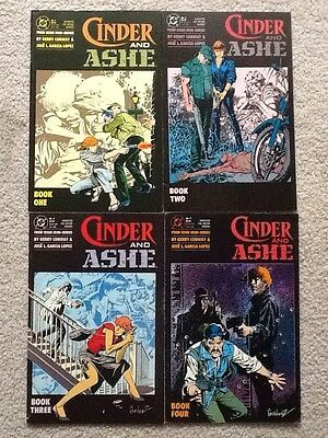 Cinder and Ashe #1 to 4 complete DC 1988 Mature Action War Gerry Conway Fine