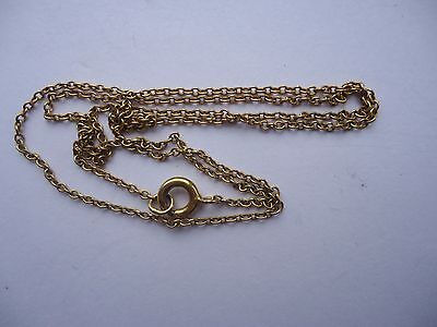 Antique 9ct Gold Chain for a Pendant or Locket...42cms