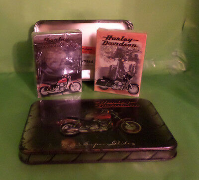 Harley-Davidson Playing Cards, Two New Decks with Collector Tin (1999)