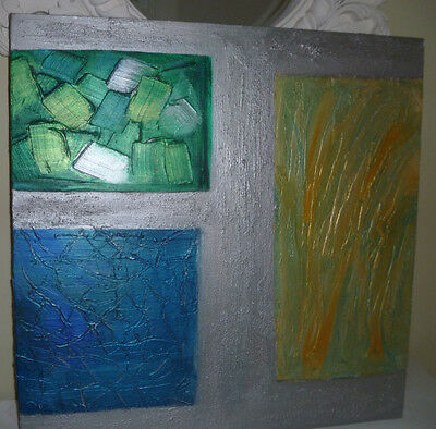 Contemporary Original Textured Abstract Painting In Acrylics On Canvas