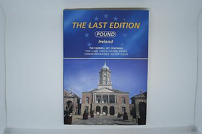 Ireland Irish last edition coin set farewell to pound set + silver medal