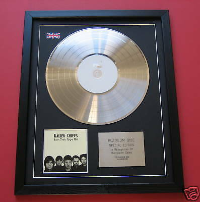 KAISER CHIEFS Yours Truly Angry Mob CD / PLATINUM LP DISC Presentation