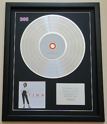 TINA TURNER Tina Twenty Four Seven CD / PLATINUM LP DISC Presentation