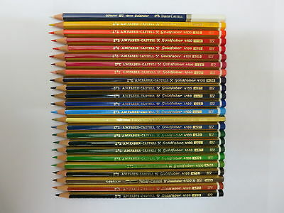 24 Vintage A.w.faber - Castell Goldfaber 4100 Colored Pencils, Germany, Unused