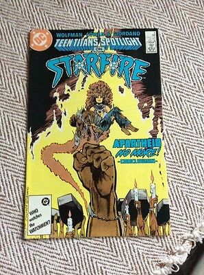 TEEN TITANS SPOTLIGHT ON STARFIRE #2 Boarded & Sleeved COMBINED POSTAGE OFFERED