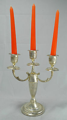 N9762 N° Sublime Candelabro In Argento Sheffield Collection Candela