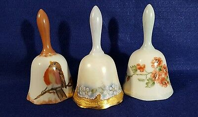 Vintage (3) Hand Painted Signed 1982/83 Bells Barbara Meola