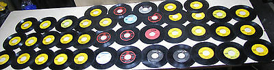 collection of 40 45 RPM vintage singles records assorted from a jukebox
