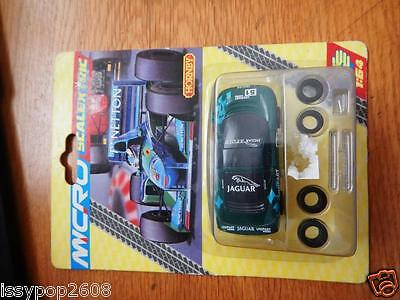 Ex Shop stock Micro Scalextric Jaguar XJ220 Unipart in Green Mint in Box