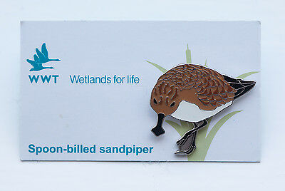 Not RSPB pin badge WWT Spoon-billed Sandpiper