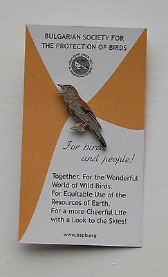 RSPB pin badge Nightingale