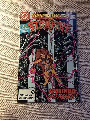 TEEN TITANS SPOTLIGHT ON STARFIRE #1 Boarded & Sleeved COMBINED POSTAGE OFFERED