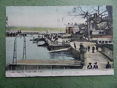 Old Postcard - Cowes From The Yacht Club , Isle Of Wight