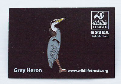 Not RSPB pin badge ESSEX WILDLIFE Grey Heron