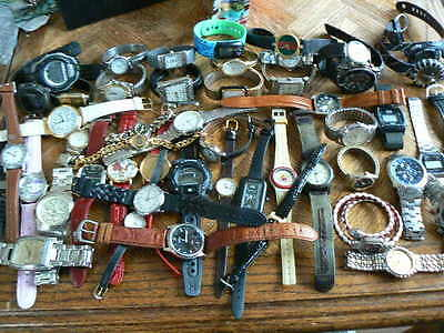 SALE Huge Watch lot (50 watches) for parts and repair with great brands