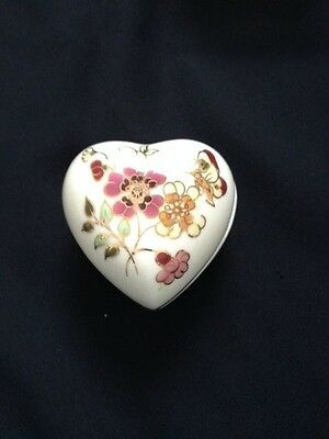 Zsolnay Hungary Porcelain Heart Trinket Box 2001