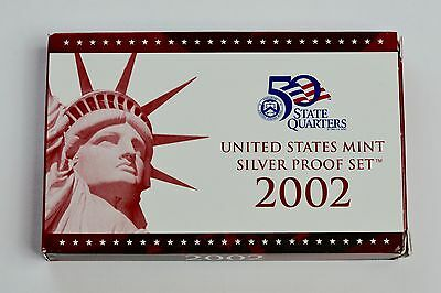 2002 United States Mint Silver Proof Set