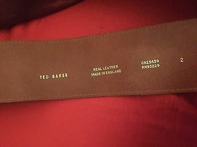 Ted Baker Tan Real Leather Ladies Belt