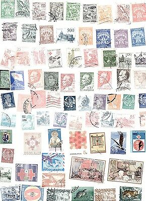 Jugoslavia Stamps 80 All Different and Off Paper