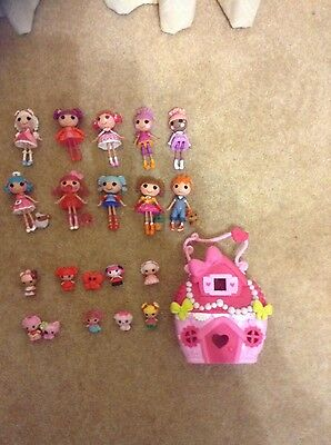 Super collection of small a miniature lalaloopsy dolls-great condition