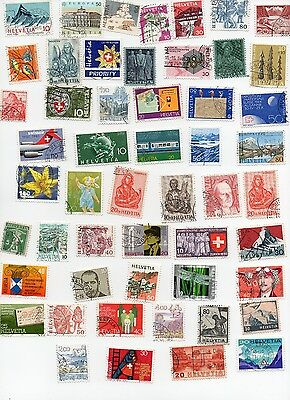 Switzerland Stamps 120 All Different and Off Paper