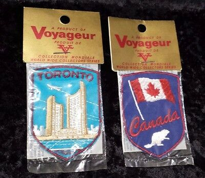 2 Voyageur Collectible Patches Canada & Toronto World Wide Collectors Series NIP
