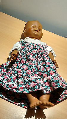 Vintage Doll With Squeaker  Baby Wetter Soft Plastic