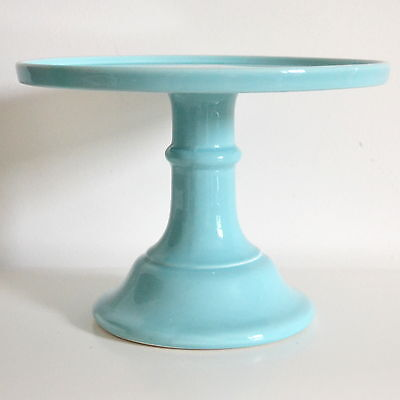 Large Ceramic Sea Blue Cake Stand