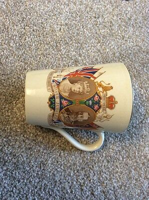 King George V And Queen Mary Silver Jubilee Mug Jarolds Norwich
