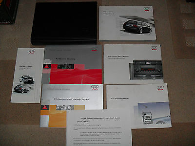 Audi A4 Avant 2004-2008 Owners Manual Wallet, Booklets, Service, Audio Handbook