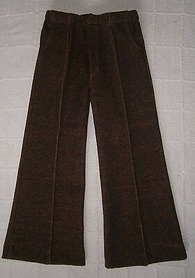 Vintage Stretch Trousers -Age 5 Approx -Brown/Red Fleck -Danish - New.Ref:J128