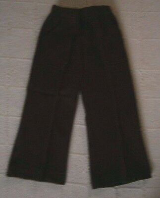 Vintage Stretch Flared Trousers - Age 1-2 - 86 cm - Brown - Danish - New
