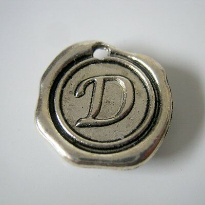 Antique Silver Initial Needle Minder, Cross Stitch, Needle Crafts, Handmade