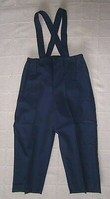 Vintage   Poplin Over-Trousers - Age 4 - Approx - Navy - Warm Lined - New