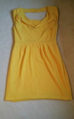 Oasis yellow dress size 12. perfect for occasion.