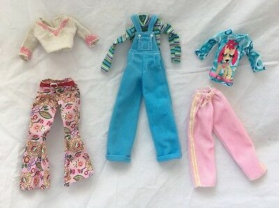 Genuine Barbie PINK Tagged Doll OVERALLS Pants Dog Top Lot #5