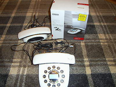 Idect Carrera Air Plus Twin digital cordless phone with answering machine White