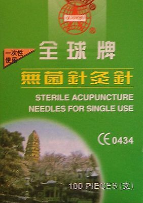 Copper Handled Acupuncture Needles 25x 0.20mm individual guide box of 100 CE